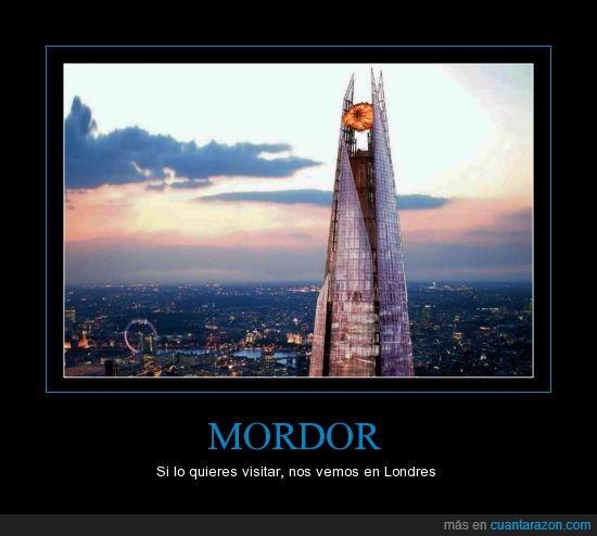 Londres,Mordor,Señor de los Anillos,Torre Shard