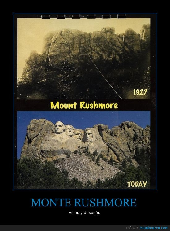 ahora,antes,arte,después,eeuu,escultura,estados unidos,montaña,monte,roca,rushmore