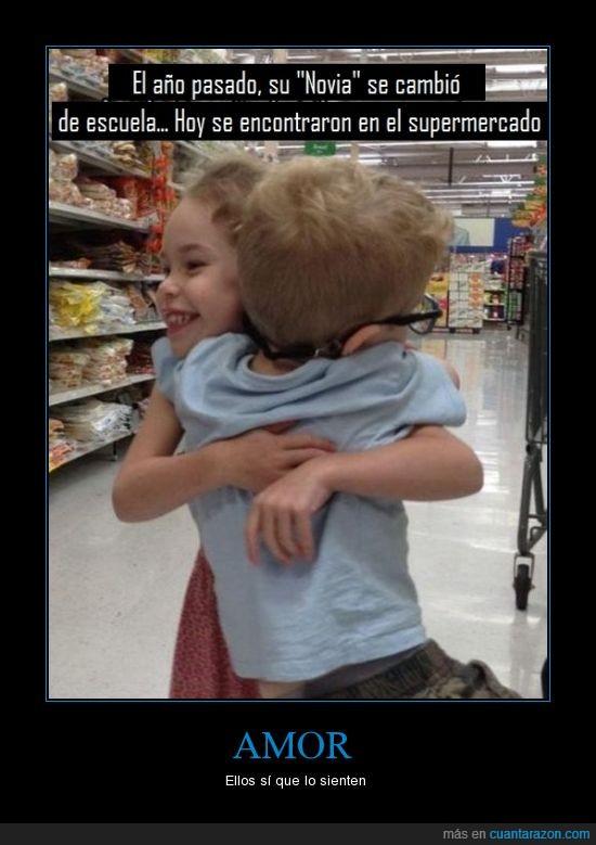 abrazo,amor,encontrar,niño,novia,supermercado