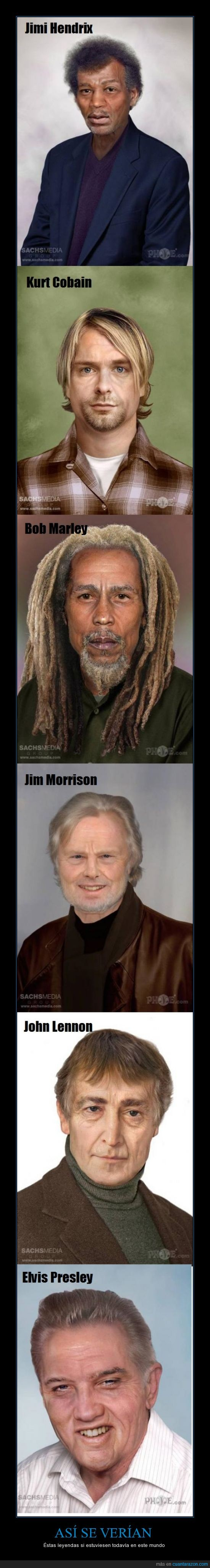 Bob Marley,Elvis Presley,Jim Morrison,Jimi Hendrix,John Lennon,Kurt Cobain
