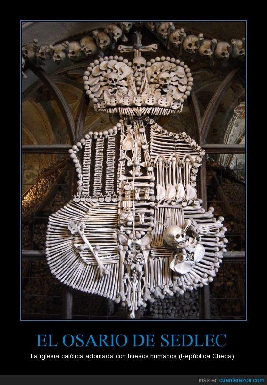 aterrador,dross,el osario de sedlec,fail,iglesia,república checa