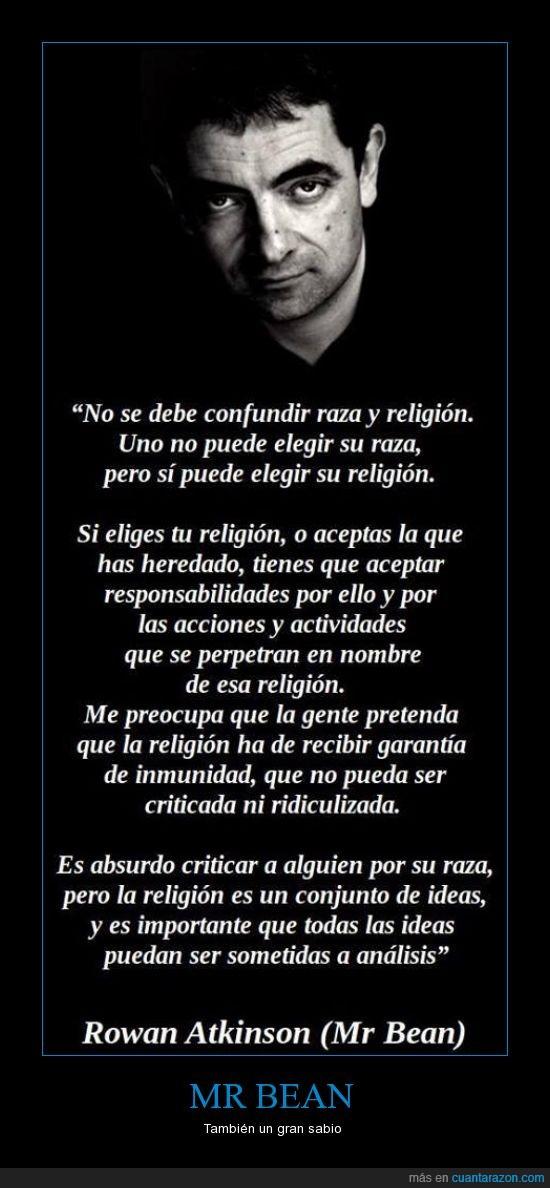 Filosofo,Mr. Bean,Raza,Religion,Rowan Atkinson