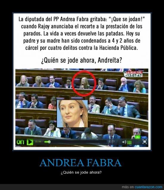 andrea fabra,carcel,corrupta,familia,karma is a b*tch