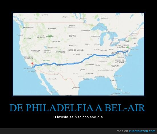Bel-air,EEUU,Google maps,Principe,taxi,the fresh prince,tv,will smith