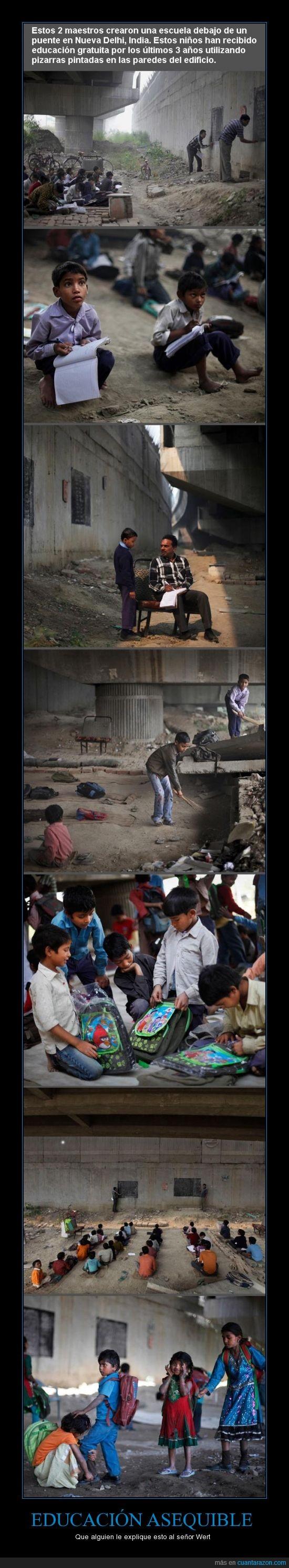 buenos,ejemplo,escuela,india,maestros,niños,pobreza,puente