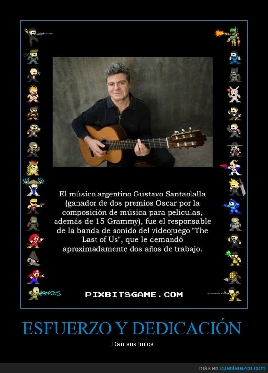banda sonora,grammy,gustavo santaolalla,música,músico,oscar,ps3,the last of us