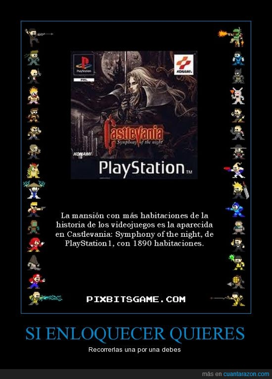 castlevania symphony of the night,imaginaros tener que encontrar una llave o algo por el estilo,konami,playstation,sony