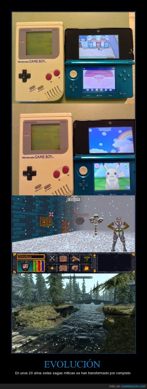 20 años,3ds,arena,ds,elder scrolls,evolucion,game boy,graficos,juegos,ladrillo,míticas,nintendo,pokemo,sagas,solo hay una explicación para esto,videojuegos
