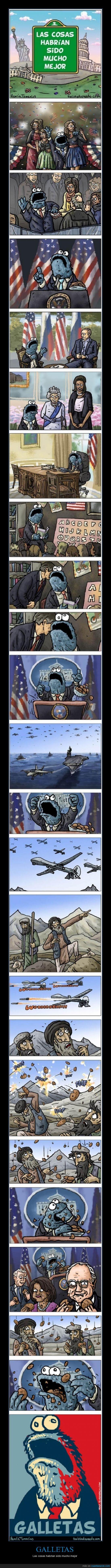 coco,Estado,Estados Unidos,Galletas,Guerra.,Monstruo,Politíca,Presidente