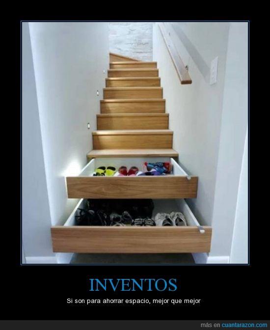 escaleras,espacio,inventos,zapatos