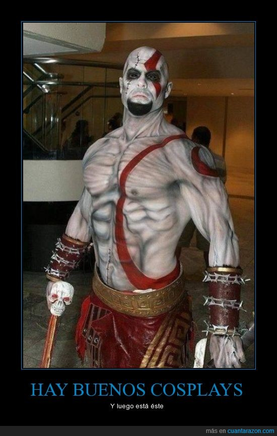 cosplay,currado,disfraz,genial,god of war,kratos