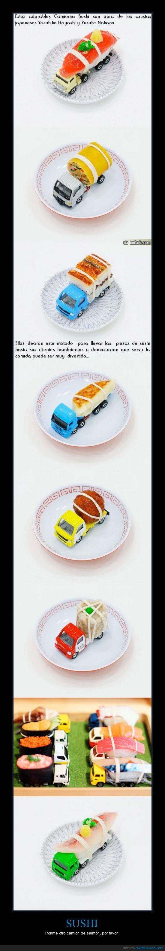 camiones,servir con estilo,sushi