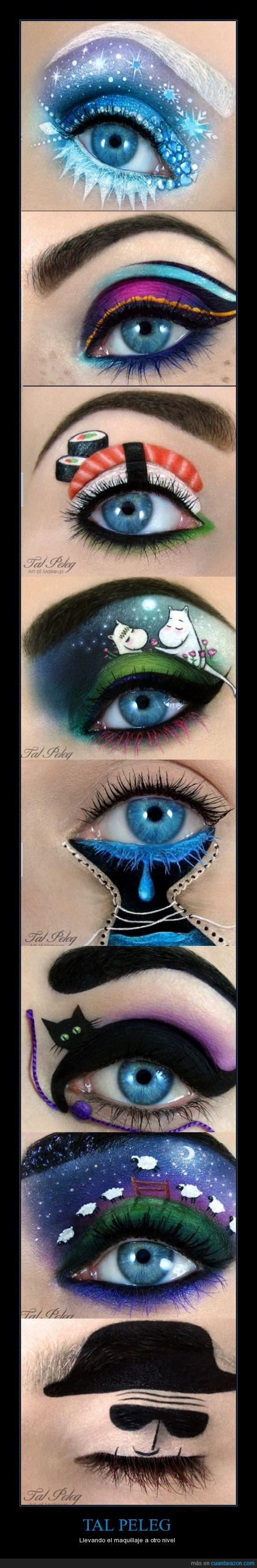gato,maquillaje,ojos,sushi,TAL PELEG