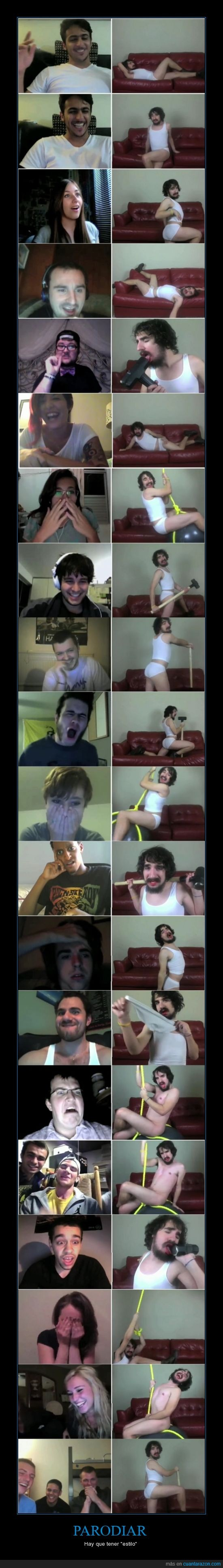 Chatroulette,Miley Cyrus,Parodia,Wrecking ball