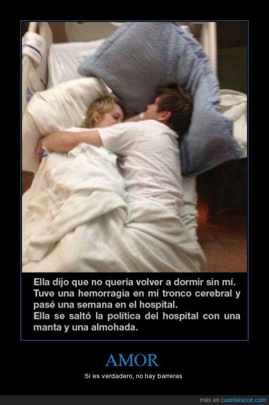 apretado,cama,dormir,hemorragia,hospital,novia,novio