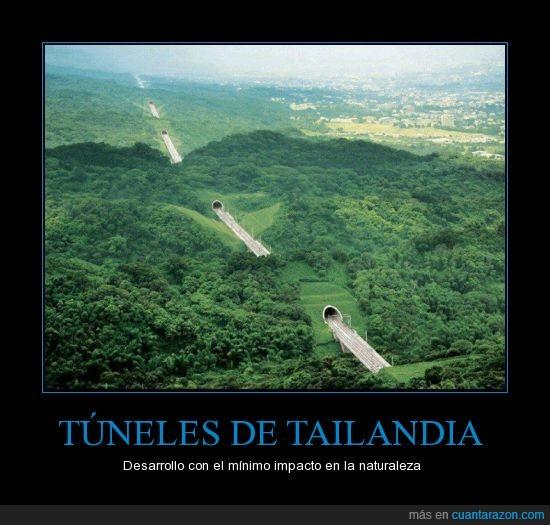 montaña,tailandia,través,tuneles