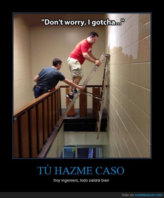 caso,escalera,ingeniero,inseguro,seguridad,seguro