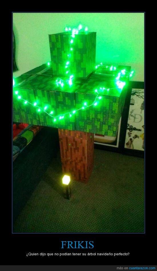 árbol,dijo,frikis,minecraft,navidad,quien