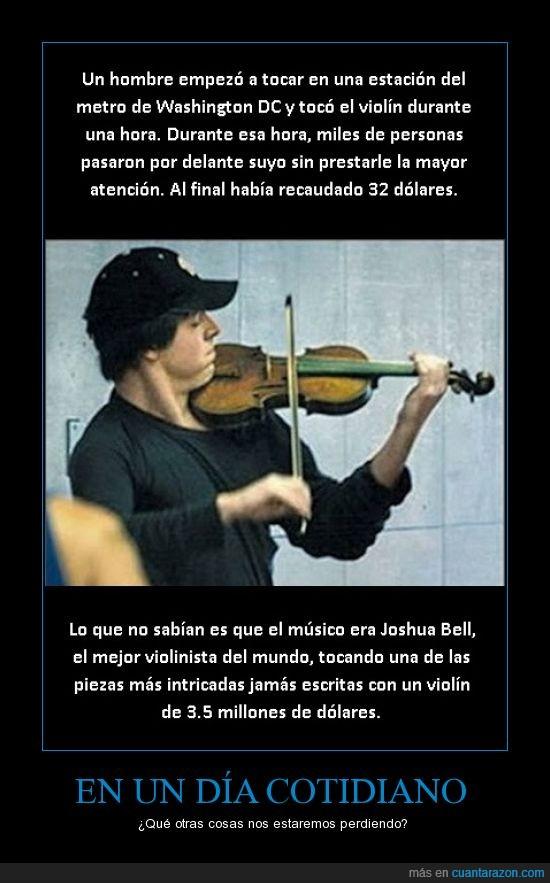 día a día,Joshua Bell,metro,violinista,Washington
