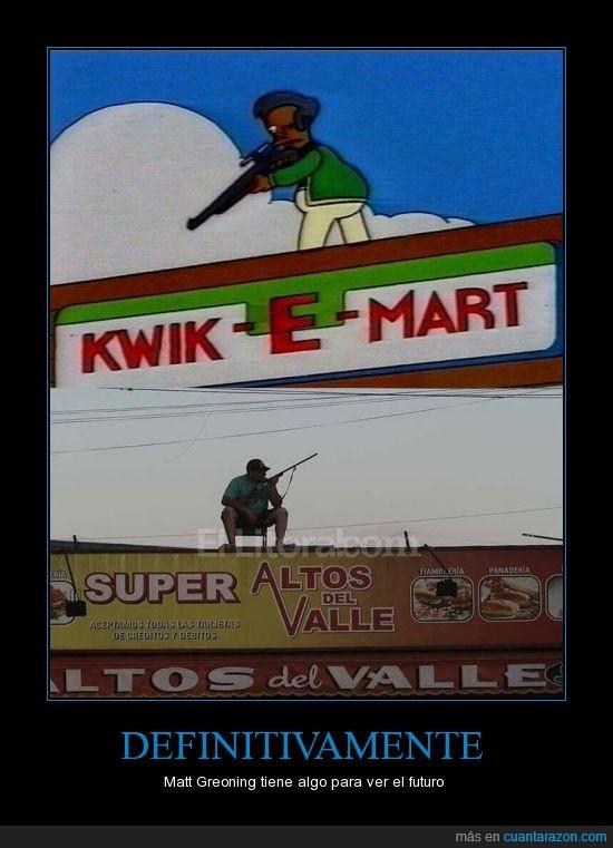 apu,apuntar,arma,badulaque,real,supermercado,tienda