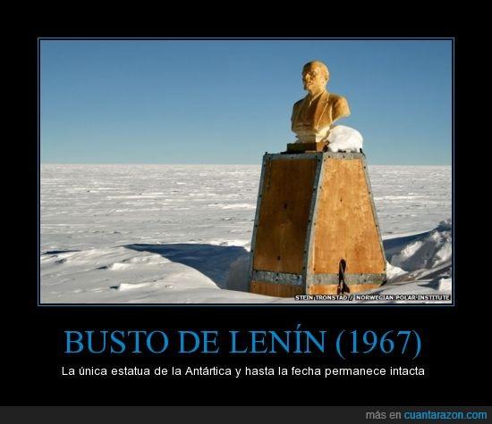 Antártica,busto,estatua,figura,hielo,lenin,nieve,polo