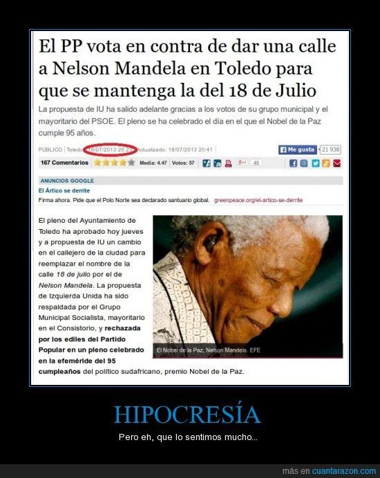 calle,falsos,Mandela,nombre,política,PP