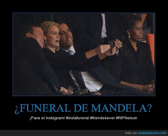 barack,David Cameron,funeral,michelle,Nelson Mandela,obama,selfie