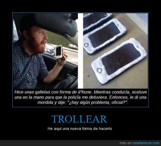 celular,galletas,good trolleum,iphone,trolleo