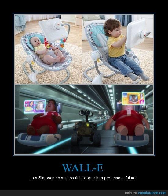 actualidad,bebe,futuro,lejano,no muy,obesidad,Simpson,wall-E