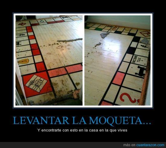 alfombra,como mola,monopoly,moqueta,pintado,quitar,secreto,suelo