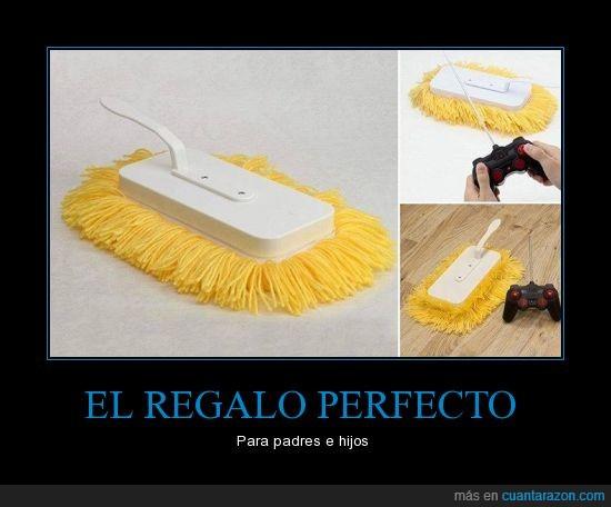 cepillo,el algodón no engaña,limpiar,perfecto,RC,regalo,suelo limpio