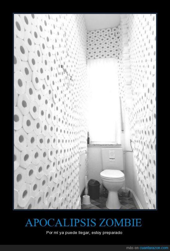 Apocalipsis,final,lavabo,papel higienico,rollos,Zombies