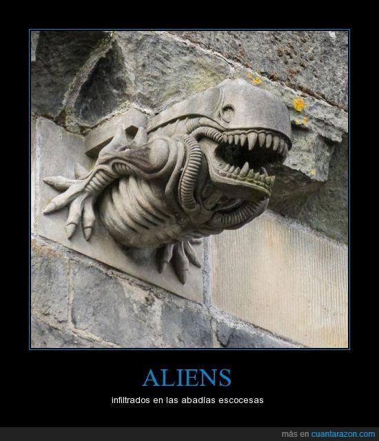 abadía,alien,escoces,escocia,gargola