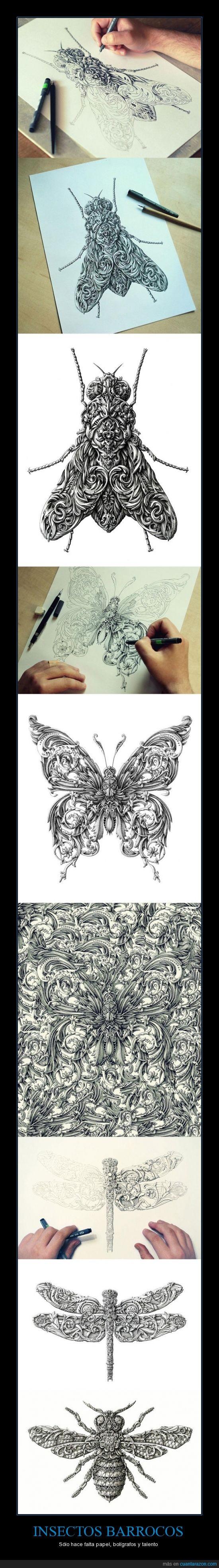arte,barroco,bicho,ilustración,insecto,no os rayéis con el estilo,renacentista,renacimiento,rococo