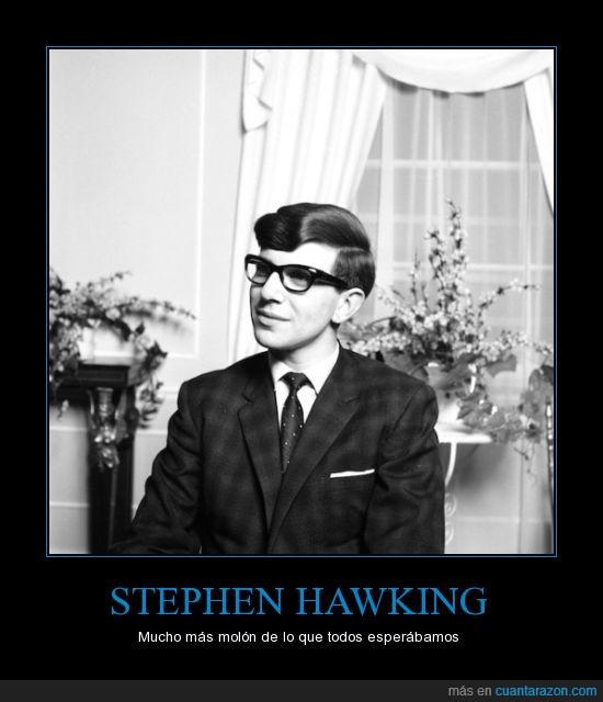 ciencia,el tipo era un galán,enfermedad,se parece a buddy holly,stephen hawking