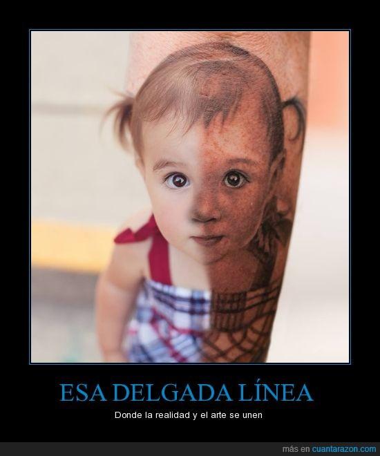 arte,artista,clavado,dibujo,igual,niña,tatuaje