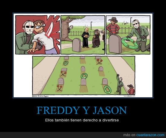 cementerio,divertirse a su manera,Freddy,Jason,muertos,terror,tres en raya,tumba