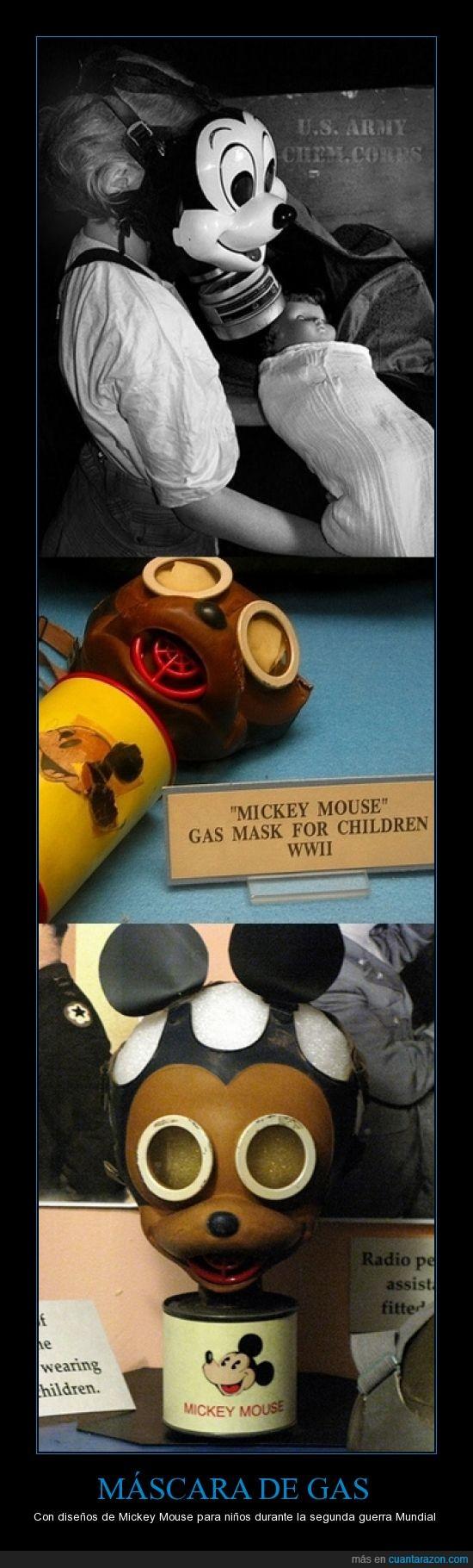 escalofriante,máscara de gas,Mickey Mouse,no me lo pondría,segunda guerra mundial