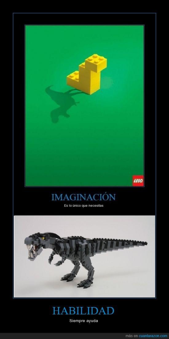 habilidad,imaginacion,LEGO,T-rex