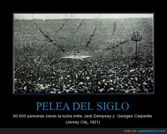 90.000 espectadores,Georges Carpentie,jack dempsey,pelea del siglo