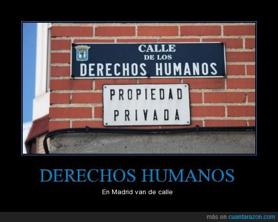 calle,derechos humanos,Madrid,placas,propiedad privada