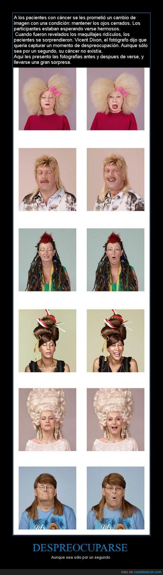 cancer,divertido,fotografo,pacientes,pelucas,problemas,risa,segundo