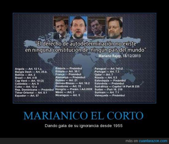autodeterminación,citación,constitució,Mariano Rajoy,tonto