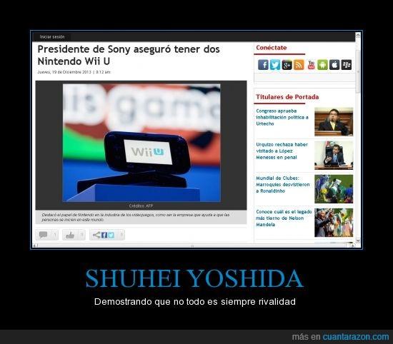 presidente de Sony,Shuhei Yoshida,tiene 2,WII U