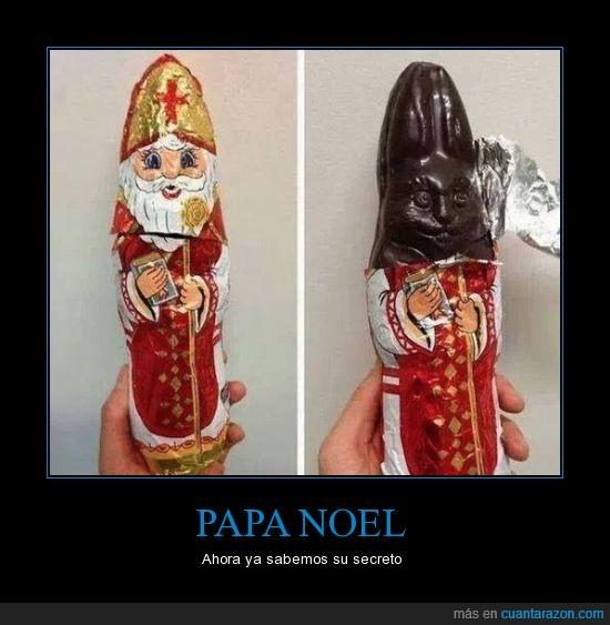 chocolatina,debajo,molde,mona,papa noel,pascua,reciclar,truco