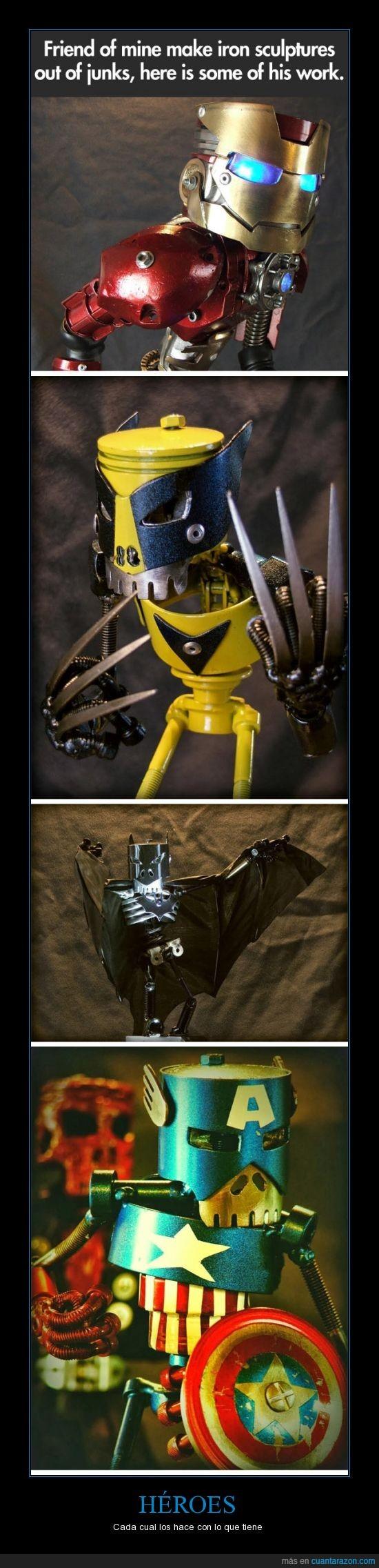 heroes,reciclaje,robots