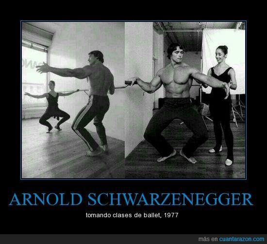 Arnold Schwarzenegger,baile,blanco y negro,mazado,sensual