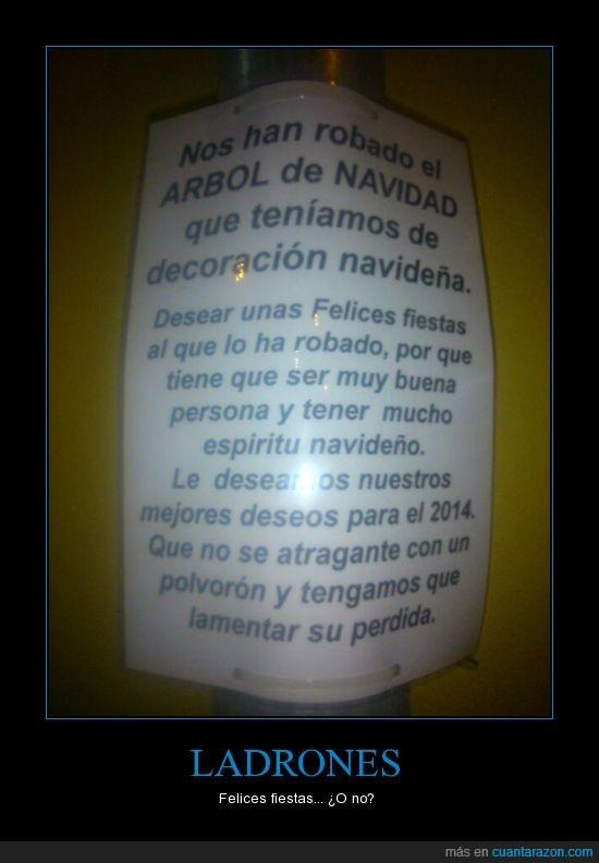 2014,arbol,atragante,decoracion,felices fiestas,lamentar,morir,navidad,pedida,robar,this is spain