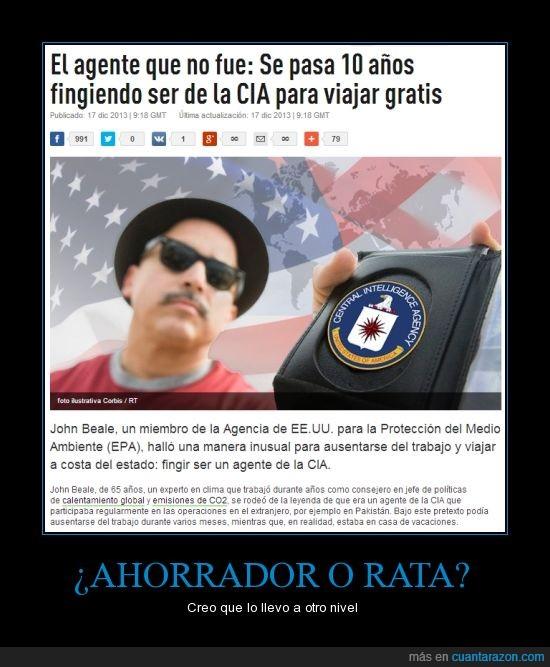 CIA,Estados Unidos,gratis,impostor,rata,viajar,¡oh disculpe pase usted!