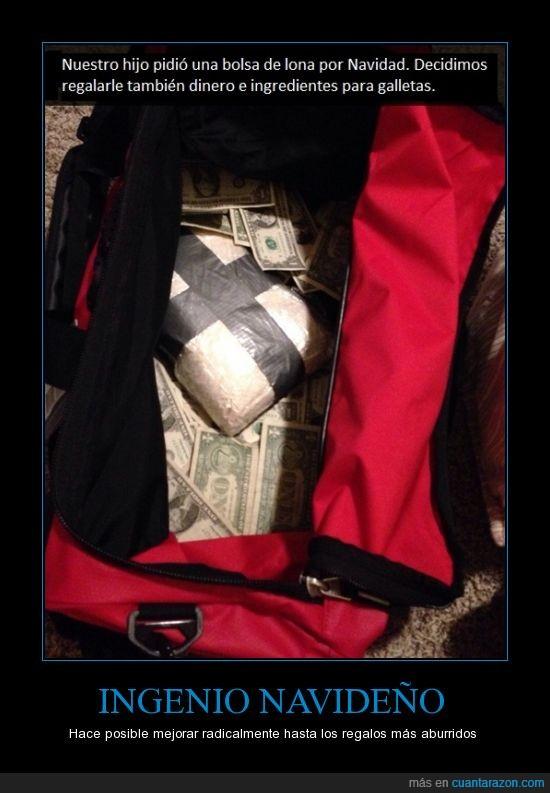 billetes,narco,navidad,regalos,tráfico de galletas,un dólar